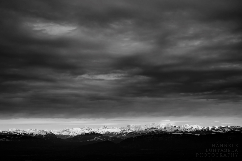 Clouds over Mont Blanc